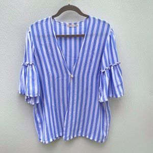 Do Everything In Love striped top Pearl anthro